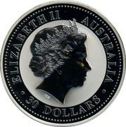 Australia 30 Dollars Year of the Dog Colored 2006 ELIZABETH II AUSTRALIA IRB 30 DOLLARS coin obverse