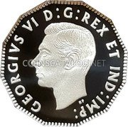 Canada 5 Cents (75th Anniversary of D-Day) GEORGIVS VI D G REX ET IND IMP HP coin obverse