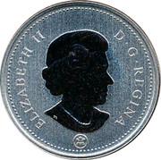 Canada 5 Cents Beaver 2010 ELIZABETH II D G REGINA coin obverse