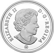 Canada 5 Cents (Beaver) ELIZABETH II D G REGINA coin obverse