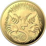 Australia 5 Cents Echidna 2020 Proof 5 coin reverse
