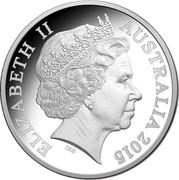 Australia 5 Dollars 125th Anniversary of Western Australia Government 2015 ELIZABETH II AUSTRALIA 2015 coin obverse