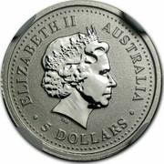 Australia 5 Dollars Koala 2000 KM# 469 ELIZABETH II AUSTRALIA 5 DOLLARS coin obverse