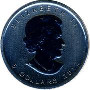 Canada 5 Dollars Moose 2012 UNC KM# 1241 ELIZABETH II 5 DOLLARS 2012 coin obverse