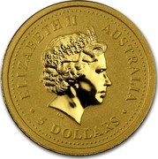 Australia 5 Dollars Year of the Dog Colored 2006 MS-BU ELIZABETH II AUSTRALIA 5 DOLLARS IRB coin obverse