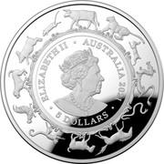 Australia 5 Dollars Year of the Ox 2021 UNC - Domed Proof ELIZABETH II AUSTRALIA 2021 5 DOLLARS JC coin obverse