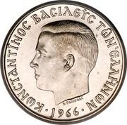 Greece 5 Drachmai Constantine II (Pattern) 1967 KM# Pn87 ΚωΝCΤAΝΤΙΝΟC ΒACΙλΕΥC ΤωΝ ΕλλΗΝωΝ 1966 coin obverse