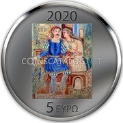 Greece 5 Euro (150 Years since the Birth of Theophilos Hatzimihail) 5 ΕΥΡΩ 2020 coin reverse