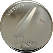 Lithuania 5 Euro Hope 2020 Proof  coin reverse