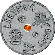 Lithuania 5 Euro The Sea Festival 2020 LIETUVA 5 2020 coin obverse