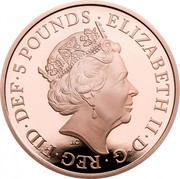 UK 5 Pounds The End of the Second World War 2020 Proof ELIZABETH II D G REG FID DEF 5 POUNDS JC coin obverse