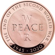 UK 5 Pounds The End of the Second World War 2020 Proof THE END OF THE SECOND WORLD WAR W PEACE R CD 1945 2020 MD coin reverse