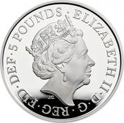UK 5 Pounds The End of the Second World War Piedfort 2020 Proof ELIZABETH II D G REG FID DEF 5 POUNDS JC coin obverse