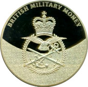 UK 5 Shillings British Military Money 2014 Proof BRITISH MILITARY MONEY coin obverse