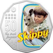 Australia 50 Cents 50th Anniversary of Skippy the Bush Kangaroo 2020 50 THE BUSH KANGAROO SKIPPY coin reverse