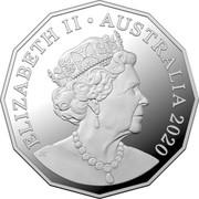 Australia 50 Cents Afghan Cameleers 2020 ELIZABETH II AUSTRALIA 2020 coin obverse