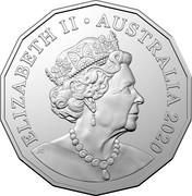 Australia 50 Cents Afghan Cameleers 2020 ELIZABETH II AUSTRALIA 2020 JC coin obverse