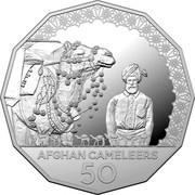 Australia 50 Cents Afghan Cameleers 2020 AFGHAN CAMELEERS 50 coin reverse