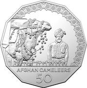 Australia 50 Cents Afghan Cameleers 2020 LA AFGHAN CAMELEERS 50 coin reverse