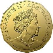 Australia 50 Cents ANDA Special Release 2020 [M] UNC in Coincard ELIZABETH II AUSTRALIA 2019 JC coin obverse