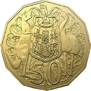 Australia 50 Cents ANDA Special Release 2020 [M] UNC in Coincard 50 SD coin reverse
