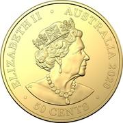 Australia 50 Cents Australian Olympic Team 2020 ELIZABETH II AUSTRALIA 2020 50 CENTS coin obverse