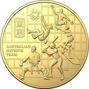 Australia 50 Cents Australian Olympic Team 2020 AUSTRALIAN OLYMPIC TEAM coin reverse