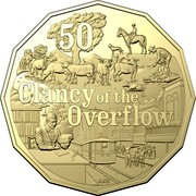 Australia 50 Cents Clancy of the Overflow 2020  50 CLANCY OF THE OVERFLOW coin reverse