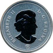Canada 50 Cents Coat of Arms 2010 KM# 494a ELIZABETH II D G REGINA coin obverse