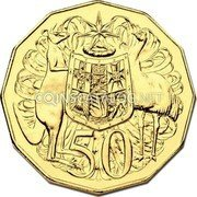 Australia 50 Cents (Coat of Arms) 50 SD coin reverse