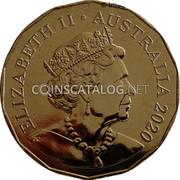 Australia 50 Cents Red kangaroo and Emu 2020 Proof ELIZABETH II AUSTRALIA 2020 coin obverse