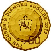 Australia 50 Cents The Queen's Diamond Jubilee 2012 THE QUEEN`S DIAMOND JUBILEE 2012 50 coin reverse