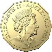 Australia 50 Cents Waltzing Matilda 2020  ELIZABETH II AUSTRALIA 2020 coin obverse