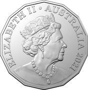 Australia 50 Cents Year of the Ox 2021 UNC in Coincard - Mintage tba ELIZABETH II AUSTRALIA 2021 JC coin obverse