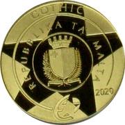 Malta 50 Euro L'Isle Adam graduals 2020 GOTHIC REPUBBLIKA TA' MALTA REPUBBLIKA TA' MALTA 2020 coin obverse