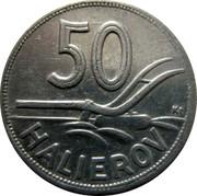 Slovakia 50 Halierov Zink Trial Strike 1944 50 K HALIEROV coin reverse