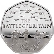 UK 50 Pence The Battle of Britain 2019 Proof THE BATTLE OF BRITAIN GB 1940 coin reverse