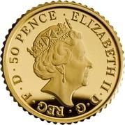UK 50 Pence The Britannia 2019 Proof ELIZABETH II D G REG F D 50 PENCE coin obverse
