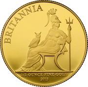 UK 50 Pounds Britannia Owl 2013 KM# 1272 BRITANNIA 1/2 OUNCE FINE GOLD 2013 coin reverse
