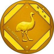 Australia 500 Dollars Road Sign Emu 2015 5OZ .9999 GOLD coin reverse