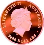 Australia 5000 Dollars Australian Koala 2017 P Proof ELIZABETH II AUSTRALIA  5000 DOLLARS coin obverse