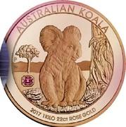 Australia 5000 Dollars Australian Koala 2017 P Proof AUSTRALIAN KOALA 2017 1 KILO 22CT ROSE GOLD coin reverse