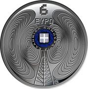 Greece 6 Euro 75 Years of Radio Foundation 2020 Proof ΕΛΛΗΝΙΚΗ ΔΗΜΟΚΡΑΤΙΑ 6 ΕΥΡΩ coin obverse