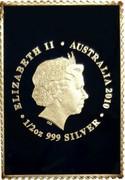 Australia 60 Cents Mary MacKillop 2010 P ELIZABETH II AUSTRALIA 2010 1/2 OZ 999 SILVER coin obverse