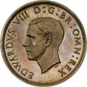 UK Crown Edward VIII 1937 Proof KM# Pn131 EDWARDVS VIII D G BR OMN REX coin obverse