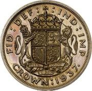 UK Crown Edward VIII 1937 Proof KM# Pn131 FID DEF IND IMP DIEU ET MON DROIT CROWN 1937 coin reverse