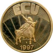 Greece ECU 1997 UNC Euro Coinage ECU 1997 coin reverse