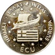 Greece ECU Alexander the Great 1994 Proof X# 37 ECU EUROPA ΕΛΛΑΣ HELLAS ΕΨΡΩΠΗ coin obverse