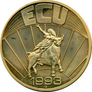 UK ECU Great Britain Theater 1993 UNC ECU 1993 coin reverse
