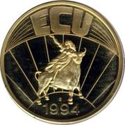 Greece ECU Pythagoras 1994 UNC ECU 1994 coin reverse